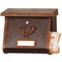 Decorative letterbox MULPI brown gold patinated