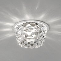Glass LED recessed ceiling light Fedora clear