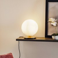 Menu TR Bulb table lamp 22 cm brass glossy opal