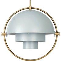 GUBI Multi Lite hanging lamp 32 cm brass sea green