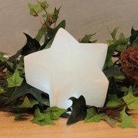 White Line LED star made of salt crystal rock