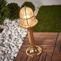 Brass pillar light Ocean