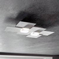 GROSSMANN Creo LED ceiling light 2 bulb aluminium