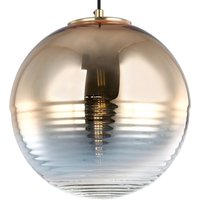 Shine hanging light with mirror glass  gold