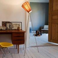 Northern Oslo Wood floor lamp steel beige