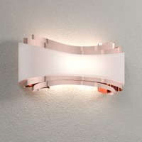 LED wall lamp Ionica  copper with glass panel