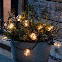 LED string lights filament amber 10 bulb