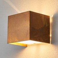 Wall lamp LOLA with oxidized brass