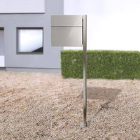 Letterman IV letterbox with post  stainless steel