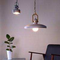 Pavonis hanging light  concrete dark grey