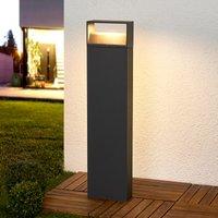 Donkergrijze LED-pollerlamp Kjella