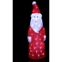 Dekorative LED-Figur Crystal Santa f. außen