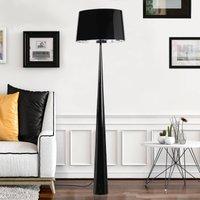 Totem LS floor lamp with chrome finish  black