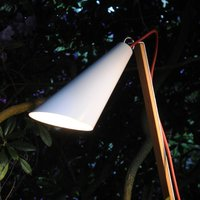 Decorative light Pit Out for outdoors  white