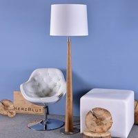 HerzBlut Conico floor lamp  white  oiled oak