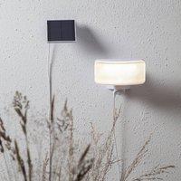 LED-Solarlampe Powerspot Sensor, eckig weiß 350lm