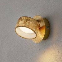 Anna LED wall spotlight in gold