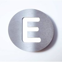 Round stainless steel house number   E