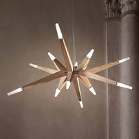 Oak modern   LED hanging light Flashwood  140 cm