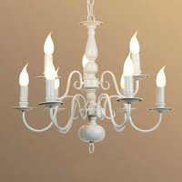 9 bulb MAYRA chandelier  in a country house style