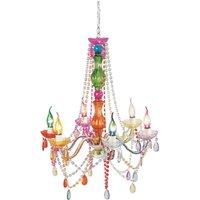 KARE Starlight Rainbow six bulb chandelier