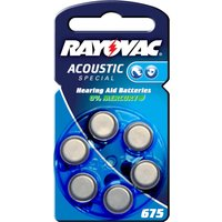 Batteria Rayovac 675 Acoustic 1,4V, 640m/Ah