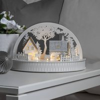 LED silhouette houses and reindeer battery