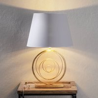 Ring noble table light with golden base