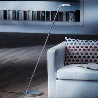 Plano S LED floor lamp with matt aluminium finish