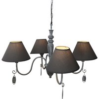 Antique grey hanging lamp Susana