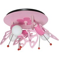 Butterfly ceiling light for a child s room  3 bulb