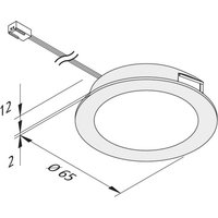 FAR 58 LED furniture light steel 3 set 3 W 3 000 K