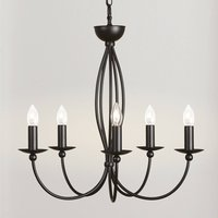 Stylish chandelier Rocco 5 bulb anthracite