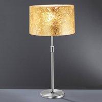 Alea Loop table lamp with gold leaf coating