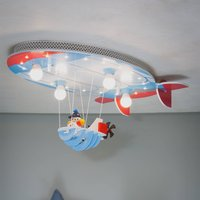 Airship ceiling light with Joe blue  red and white