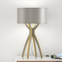 B Leuchten Body   table lamp  wood  grey