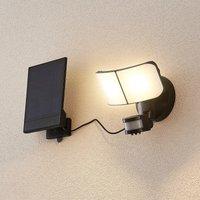 Prios Omino LED solar wall spotlight with sensor