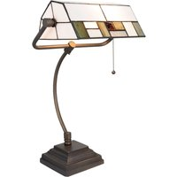 5194 desk lamp  glass lampshade  white and green