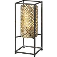 Petrolio table lamp black gold  height 37 cm