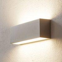 BEGA 50147 LED wall uplighter DALI 32 cm palladium