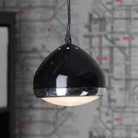 One bulb pendant light RIDER  black