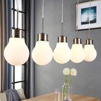 5 bulb LED pendant lamp Bado  dimmable via switch