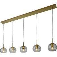 Villeroy   Boch Tokyo hanging light  gold 5 bulb
