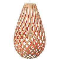 david trubridge Koura pendant lamp 50cm bamboo red
