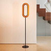 LZF Lens Oval floor lamp black cherry 46 cm