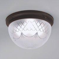 Karolin ceiling light  embellished glass shade