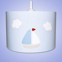 Striped Estria Boat hanging light
