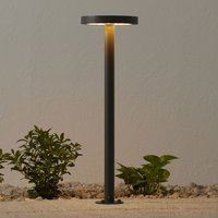 LED-Solar-Wegelampe Linja, rund, dunkelgrau