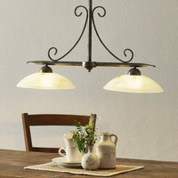 Country house style hanging light Dana  2 bulb