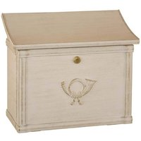 High quality letterbox MERITO white gold patinated